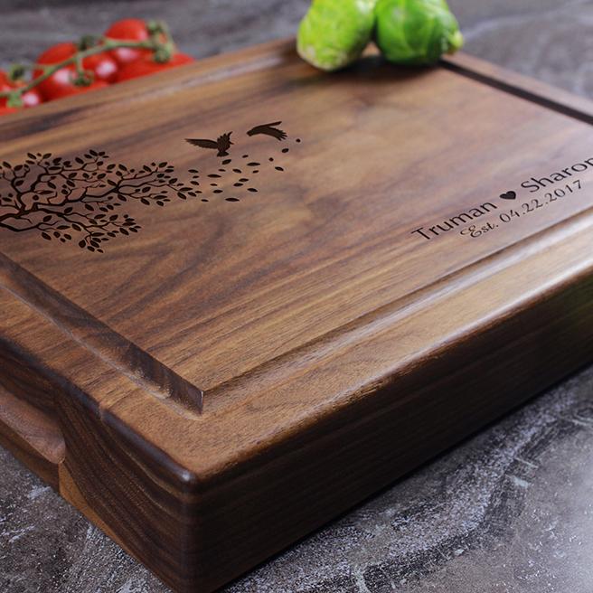 Housewarming Gift Anniversary Gift Personalized Wedding Gift Personalized Butcher Block Engraved Cutting Board