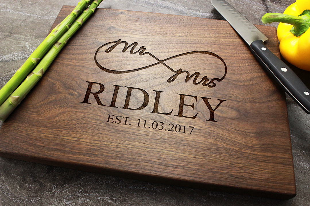 Personalized Engraved Cutting Board Custom Wedding Anniversary Engagement Real Estate Closing Gift 39 Walnut Artisan Gallery
