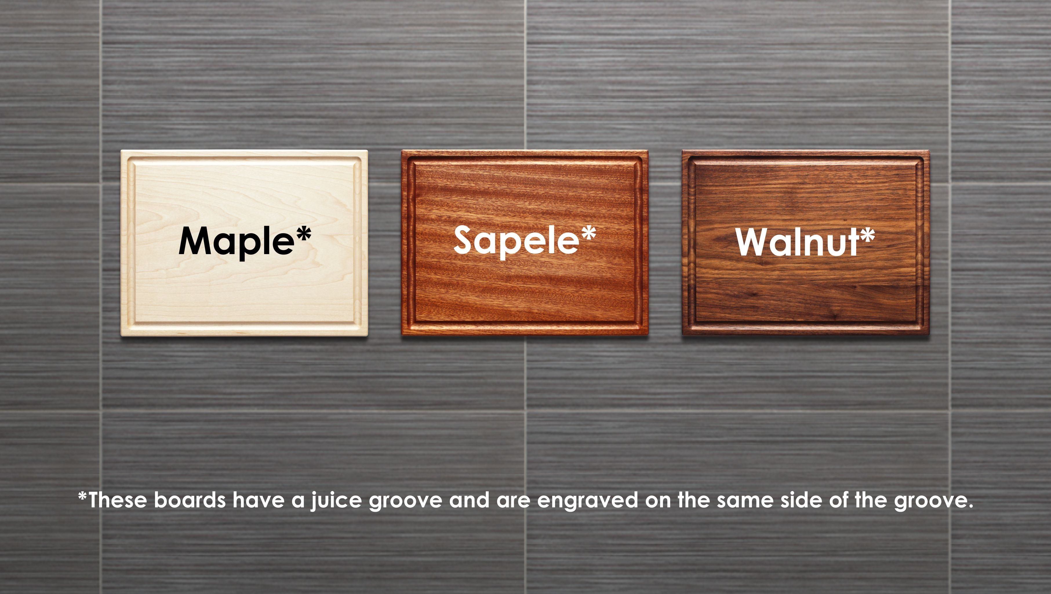 Juice Groove Chef Gift WOOD EDGE GRAIN Cutting Board Wood Carving Board with Groove Charcuterie Board Juice Trough Wedding Gift