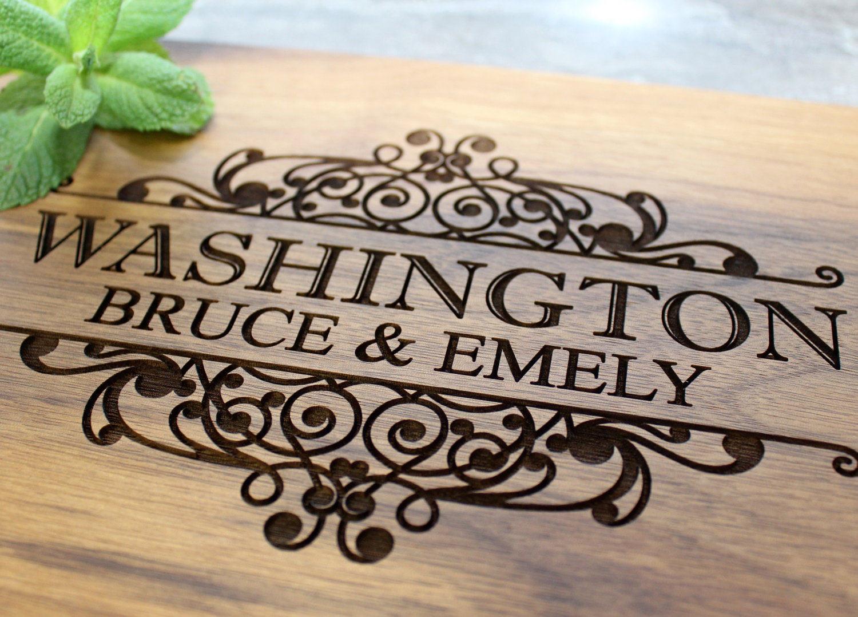 31 Wedding Anniversary Gift: Personalized Cutting Board