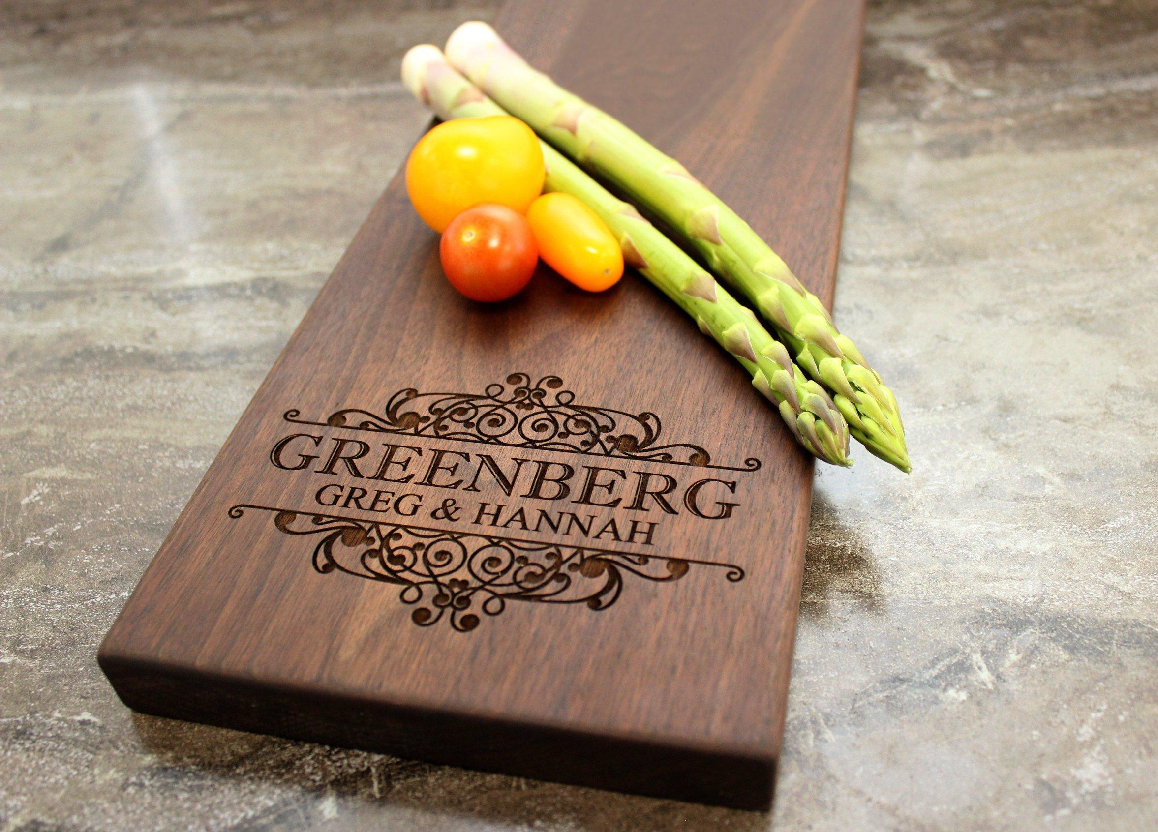 31 Wedding Anniversary Gift: Personalized Cheese Board, Serving Board, Bread Board