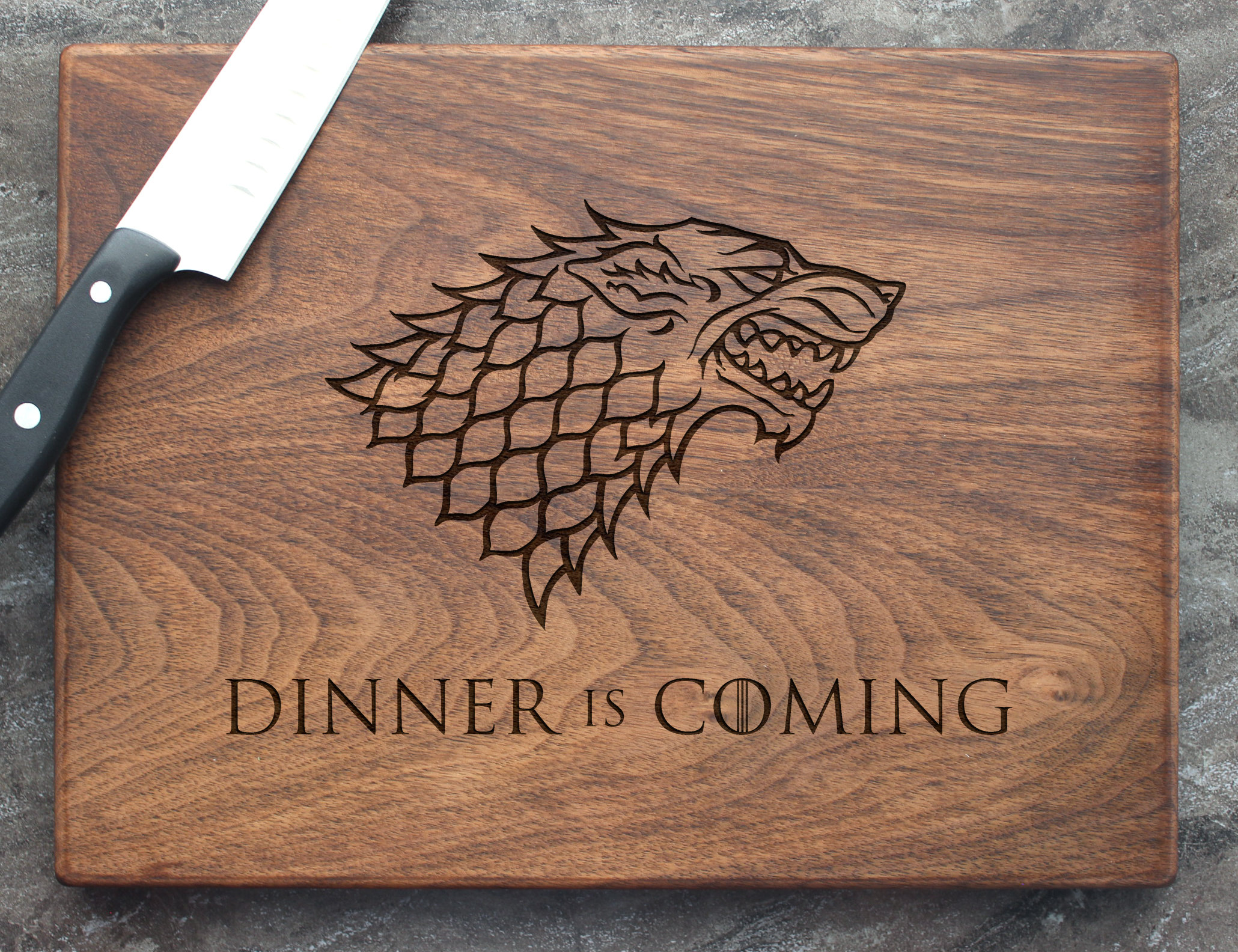 Game Of Thrones Personalized Engraved Cutting Board Custom Wedding Anniversary Engagement Real Estate Closing Gift 54 Walnut Artisan Gallery