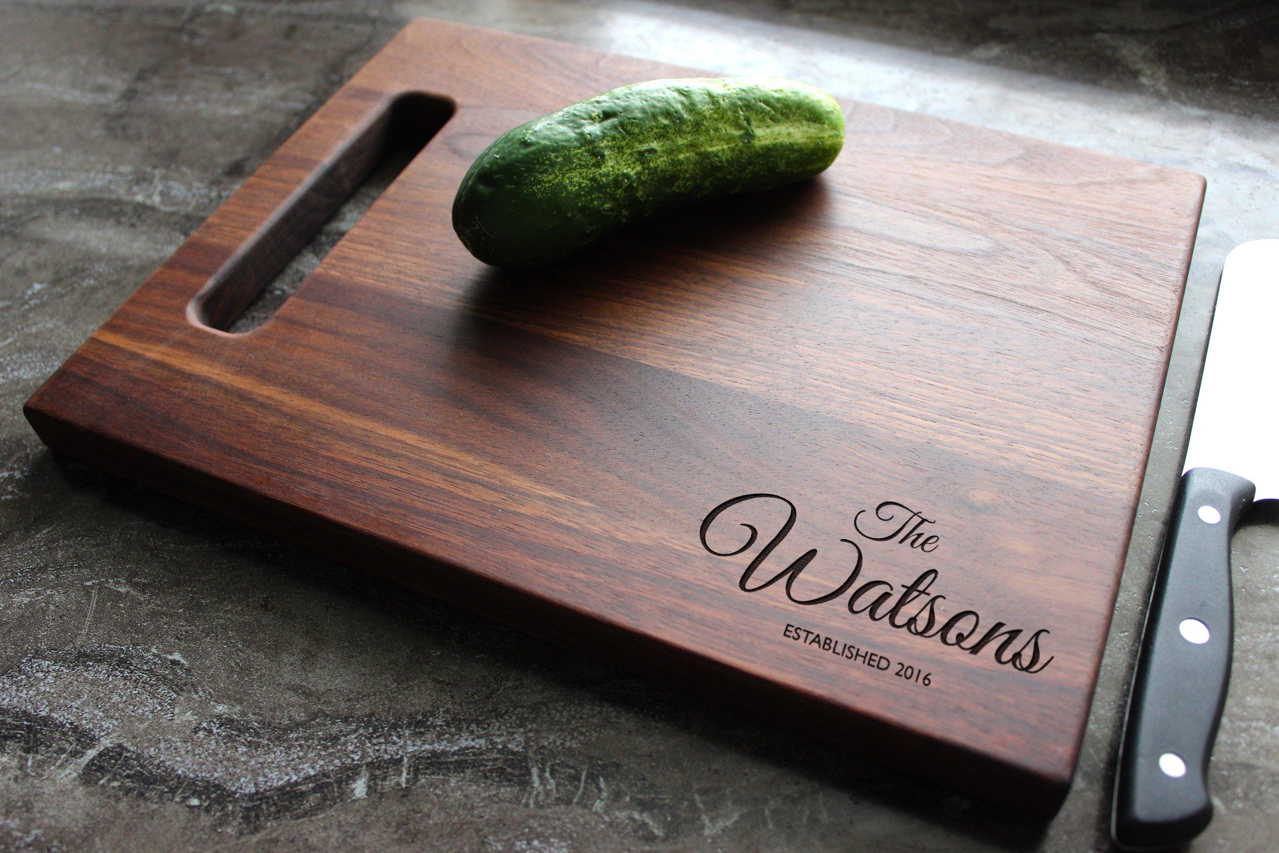 Wedding Gift Cutting Board: Personalized Cutting Board